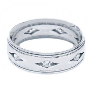 Tacori 877WD Platinum Crescent Wedding Band