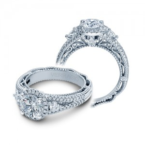 Verragio Venetian-5055R Platinum Engagement Ring