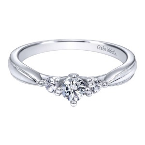 Gabriel 14 Karat Contemporary Engagement Ring ER910070W44JJ