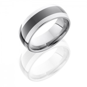 Lashbrook TCR8349 Polish Ceramic Wedding Ring or Band