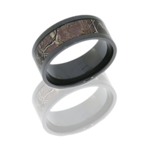 Lashbrook Z10F16/RTAP POLISH Camo Wedding Ring or Band