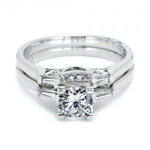 Tacori 2592B Platinum Wedding Band
