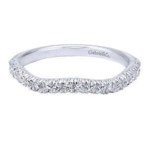 Gabriel 14 Karat Contemporary Wedding Band WB10456W44JJ