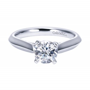 Gabriel Platinum Contemporary Engagement Ring ER6686PTJJJ