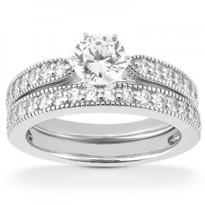 Taryn Collection Platinum Diamond Engagement Ring TQD A-3771