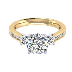 Gabriel 14 Karat Contemporary Engagement Ring ER7476M44JJ