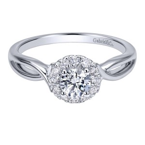 Gabriel 14 Karat Contemporary Engagement Ring ER911778R0W44JJ