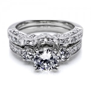 Tacori HT2250B Platinum Wedding Band