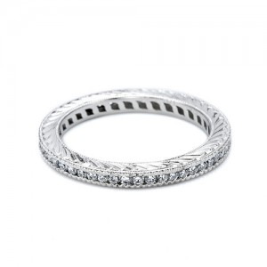 Tacori Platinum Hand Engraved Wedding Band HT2204