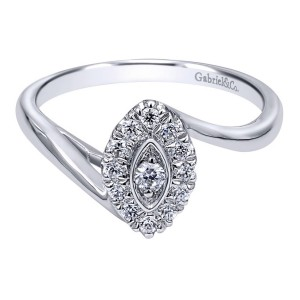 Gabriel 14 Karat Contemporary Engagement Ring ER10773W44JJ
