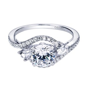 Gabriel 14 Karat Contemporary Engagement Ring ER5331W44JJ