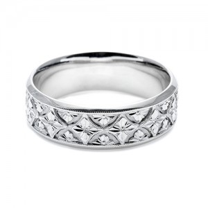 Tacori 18 Karat Hand Engraved Wedding Band HT2389