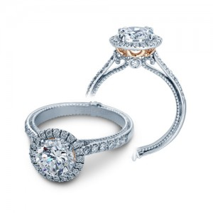 Verragio Couture-0430R-TT Platinum Engagement Ring
