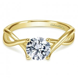 Gabriel 14 Karat Contemporary Engagement Ring ER7517Y4JJJ