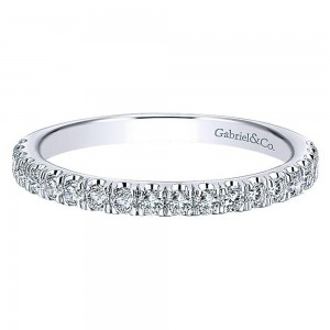 Gabriel 14 Karat Contemporary Wedding Band WB12647O4W44JJ