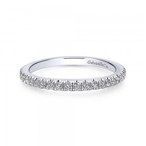 Gabriel 14 Karat Contemporary Wedding Band WB12822R4W44JJ