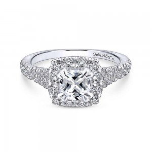 Gabriel 14 Karat Cushion Cut Halo Engagement Ring ER12835C4M44JJ