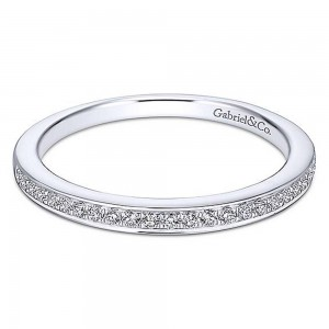 Gabriel 14 Karat White Gold Straight Wedding Band WB13886R4W44JJ