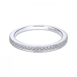 Gabriel 18 Karat White Gold Straight Wedding Band WB13886R4W84JJ