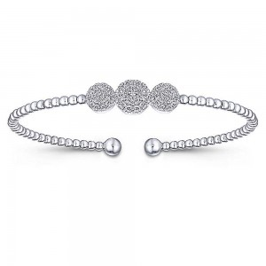 Gabriel Fashion 14 Karat Diamond Bujukan Bangle Bracelet BG4114W45JJ