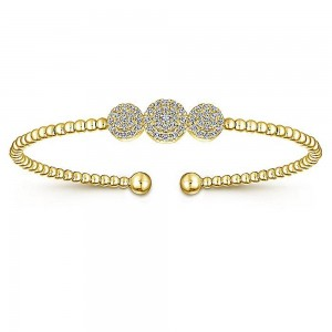 Gabriel Fashion 14 Karat Diamond Bujukan Bangle Bracelet BG4114Y45JJ
