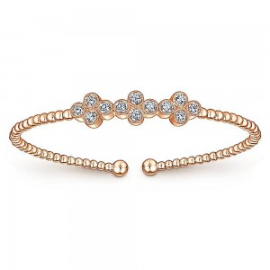Gabriel Fashion 14 Karat Diamond Bujukan Bangle Bracelet BG4115K45JJ
