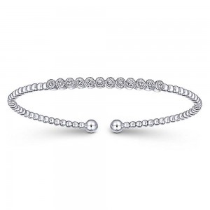 Gabriel Fashion 14 Karat Diamond Bujukan Bangle Bracelet BG4118W45JJ