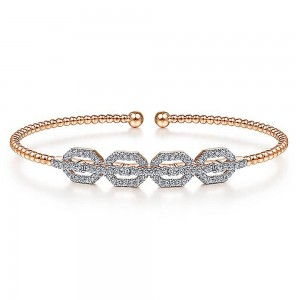 Gabriel Fashion 14 Karat Diamond Bujukan Bangle Bracelet BG4229-6K45JJ