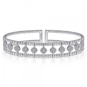 Gabriel Fashion 14 Karat Diamond Bujukan Bangle Bracelet BG4232-6W45JJ