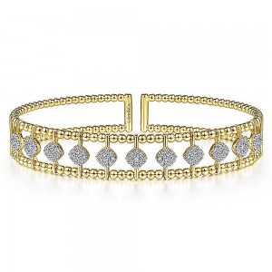 Gabriel Fashion 14 Karat Diamond Bujukan Bangle Bracelet BG4232-6Y45JJ