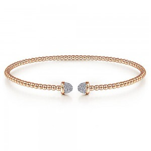 Gabriel Fashion 14 Karat Diamond Bujukan Bangle Bracelet BG4248-6K45JJ