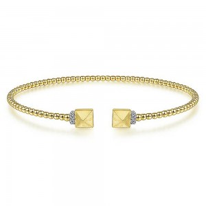 Gabriel Fashion 14 Karat Diamond Bujukan Bangle Bracelet BG4255-6Y45JJ
