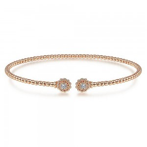 Gabriel Fashion 14 Karat Diamond Bujukan Bangle Bracelet BG4257-6K45JJ