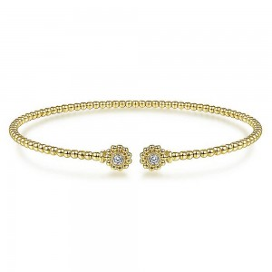 Gabriel Fashion 14 Karat Diamond Bujukan Bangle Bracelet BG4257-6Y45JJ