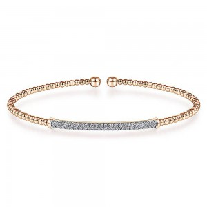 Gabriel Fashion 14 Karat Diamond Bujukan Bangle Bracelet BG4262-6K45JJ