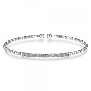 Gabriel Fashion 14 Karat Diamond Bujukan Bangle Bracelet BG4262-6W45JJ