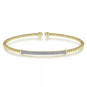 Gabriel Fashion 14 Karat Diamond Bujukan Bangle Bracelet BG4262-6Y45JJ