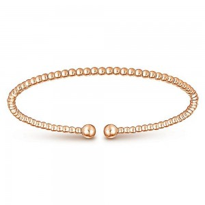 Gabriel Fashion 14 Karat Rose Gold Bujukan Bangle Bracelet BG4107K4JJJ