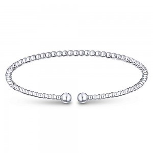 Gabriel Fashion 14 Karat White Gold Bujukan Bangle Bracelet BG4107W4JJJ