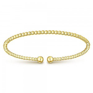 Gabriel Fashion 14 Karat Yellow Gold Bujukan Bangle Bracelet BG4107Y4JJJ