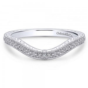 Gabriel Platinum Curved Wedding Band WB12581R4PT4JJ