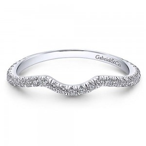 Gabriel Platinum Curved Wedding Band WB12627S3PT4JJ