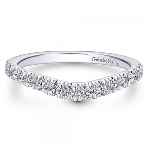 Gabriel Platinum Curved Wedding Band WB12761R4PT4JJ