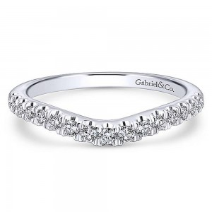 Gabriel Platinum Curved Wedding Band WB12835C4PT4JJ