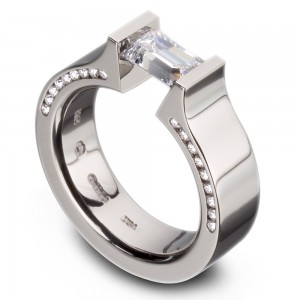 Kretchmer Platinum Hard Omega Half Channel Tension Set Ring