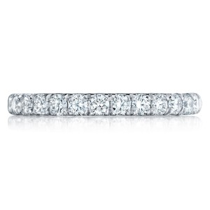 HT254525B12 Platinum Tacori Petite Crescent Diamond Wedding Ring