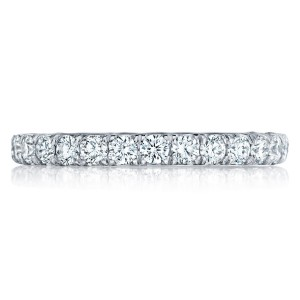 HT254525B Platinum Tacori Petite Crescent Diamond Wedding Ring