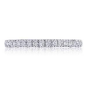 HT2545B34 Platinum Tacori Petite Crescent Diamond Wedding Ring
