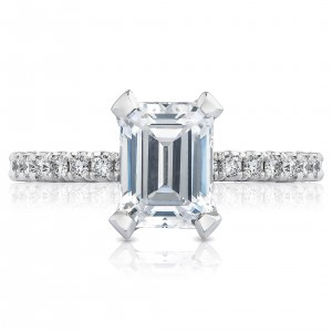 HT2545EC8X6 Platinum Tacori Petite Crescent Engagement Ring