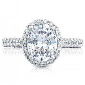HT254725OV95X75 Platinum Tacori Petite Crescent Engagement Ring